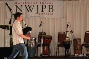 Returning to support my first pipe band by performing at their fundraiser
