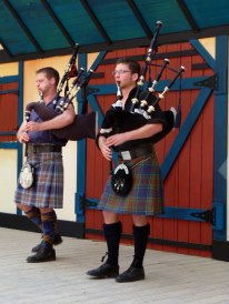 On stage with Tartanic.